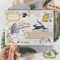 https://flic.kr/p/A8uCEQ | Envelope decorated by Merissa Revestir | Instagram:@merissa_cherie #snailmail #mailart #envelope#woodland #stickers #mail #postage #usps #rustic #penpal