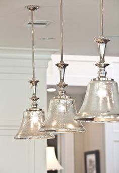 DIY Mercury Glass (Maybe spray paint the green pendants lights white, then use…