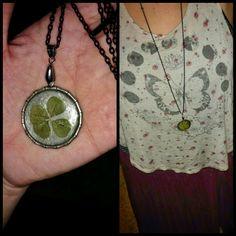 Four leaf clover pendants for sale! #fourleafclover #pendant #necklace #jewelry #irish #luck #celtic #operanecklace #gypsy