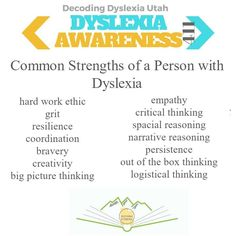 Strengths Of A Person, Dyscalculia, Work Ethic, Think Big, Holistic Remedies, Phonemic Awareness, Decoding, Dyslexia, Big Picture