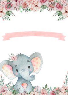 Elephant baby shower invitation floral   Zazzle.com Elephant Shower, Elephant Baby, Frozen Invitations, Baby Shower Invitations, Baby Shower Themes, Baby Boy Shower, Disney Cars Party, Creative Food Art, Birthday Fashion