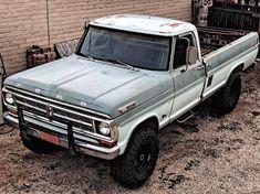 old ford trucks Old Pickup Trucks, Farm Trucks, Ford 4x4, Lifted Ford Trucks, Diesel Trucks, Cool Trucks, Big Trucks, Ford Diesel, Ford Bronco