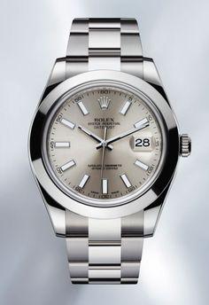 Dieses und weitere Luxusprodukte finden Sie auf der Webseite von Lusea.de  Since 1945... back again in steel now 41 mm case #Rolex #Watches