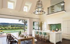Modern Family Home. Fresh and modern wine country home with indoor-outdoor living. (Image Courtesy of Wade Design Architects) Decor Interior Design, Interior Decorating, Design Furniture, Fine Furniture, Custom Furniture, Indoor Outdoor Living, Outdoor Spaces, Cuisines Design, Architect Design