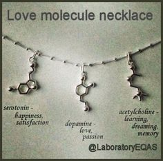 Love Molecule Necklace  Just perfect for a laboratorian