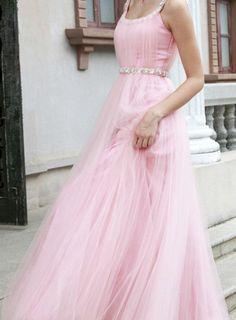 Custom Halter Tulle Wedding dress