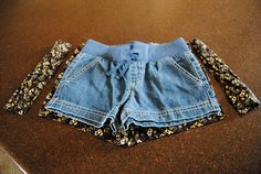 Sew Much More than Rubies: Adult Size to Child Size Shorts Refashion