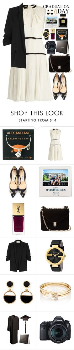 """""""graduation day🎓"""" by polinachaban ❤ liked on Polyvore featuring Alex and Ani, Giambattista Valli, Jimmy Choo, Cathy's Concepts, Yves Saint Laurent, Valentino, River Island, Avon, Gucci and Warehouse"""