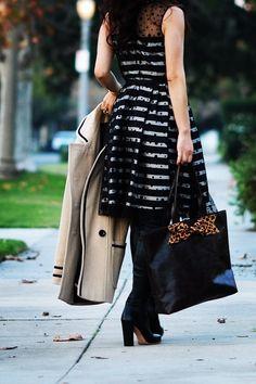 HallieDaily: A Feminine Combination: Polka Dot, Stripe and Bow....LOVE!!!!!!