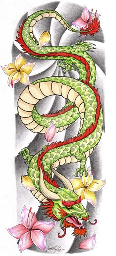 Chinese Dragon Tattoo Sleeve by The-Blackwolf on DeviantArt