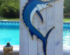 Handmade Mother and Baby Seahorse Beach Pallet Art