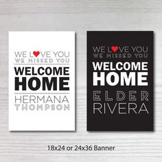 Printable Personalized Welcome Home Return Missionary Poster, Banner, Sign, LDS Missionary, Missionary Homecoming, Military Homecoming Signs, Missionary Mom, Sister Missionaries, Welcome Home Posters, Welcome Home Signs, Mission Farewell, Cute Banners, Church Signs