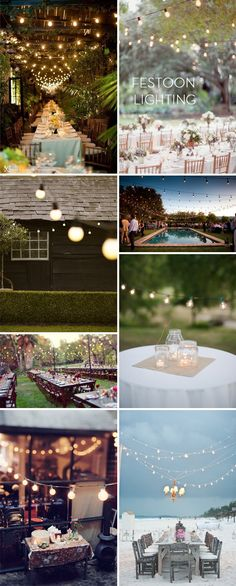 Festoon style lighting via Fairly Light | Outdoor, garden lights