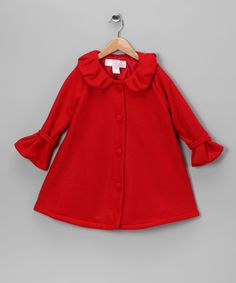 Red Polar Fleece Swing Coat - Infant & Girls | Daily deals for moms, babies and kids