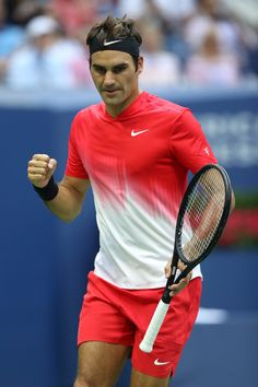 Roger Federer Photos Photos - Roger Federer of Switzerland celebrates defeating Mikhail Youzhny of Russia during their second round Men's Singles match on Day Four of the 2017 US Open at the USTA Billie Jean King National Tennis Center on August 31, 2017 in the Flushing neighborhood of the Queens borough of New York City. - 2017 US Open Tennis Championships - Day 4