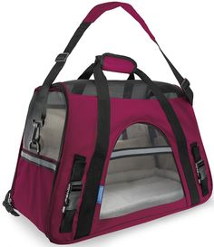 *** SPECIAL PROMOTION - 30% OFF *** Extra 10% discount on orders over $40. Use Over40 discount coupon code on checkout page. #1 Best Selling Airline Compliant Carrier - Includes fleece travel bed that