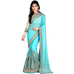 Fantastic Sea green Color Party wear & Designer Saree at just Rs.2699/- on www.vendorvilla.com. Cash on Delivery, Easy Returns, Lowest Price.