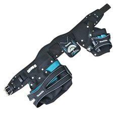 Makita Special Edition Toolbelt 2 Pouch Holster Tool Belt Set - Black & Blue