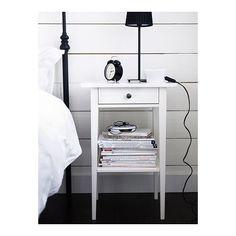 HEMNES Nightstand - white - IKEA