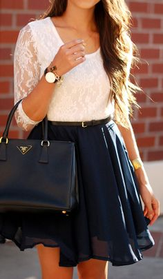 I'm in love with the skirt, and the watch adds a nice touch :)