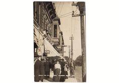 Vintage 1908 Fairbury Nebraska Real Photo Postcard Among the Skyscrapers Store Fronts