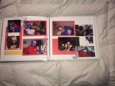 Inside pages of If your happy and you know it #fast2fab album. #creativememories #scrapbooklayout