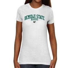 NCAA Bemidji State Beavers Ladies Team Arch Slim Fit T-Shirt - White $19.95