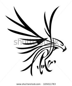 Hawk Tattoo Stock Photos Images, Royalty Free Hawk Tattoo Images And Pictures In blue and green. Tribal Eagle Tattoo, Small Eagle Tattoo, Eagle Tattoos, Wolf Tattoos, Celtic Tattoos, New Tattoos, Tribal Tattoos, Small Tattoos, Tatoos