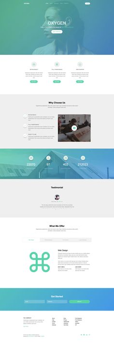 Oxygen is a free responsive HTML5 website template built on the latest HTML5 and CSS3. The feature of this template are fun facts counter, smooth content tab, sleek animation upon scrolling, menu and drop down. Oxygen is based on the popular Bootstrap framework.