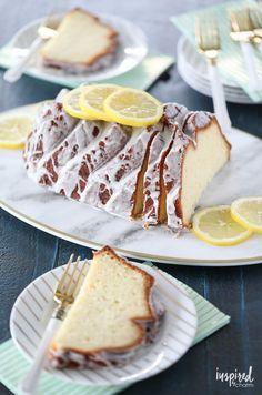 Bright, fresh, and moist this Lemon Yogurt Cake #recipe is one of my favorite sweet #treats! #lemon #yogurt #cake