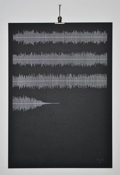 stitched visualisation of Love Will Tear Us Apart. Each horizontal line represents 1 minute of audio. By Peter Crawley