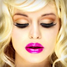 I wanted bright pink lipstick, but is it Glam enough? ........