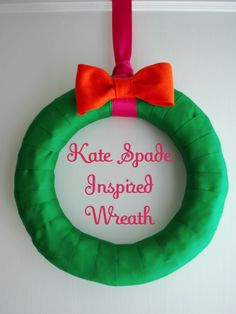 kate spade inspired wreath