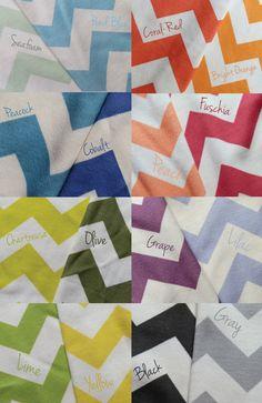 Chevron Baby Blanket, Choose Your Color, Soft Organic Cotton. $45.30, via Etsy.