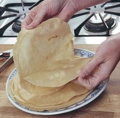 Mandarin Pancakes to go with the duck for our Chinese new year dinner tonight!
