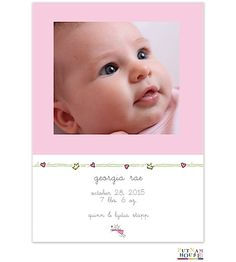 Princess Birth Announcement Photo Cards from Little Angel Announcements