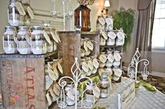 Awesome favors....cookie mix jars