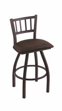 Holland Bar Stool Co. XL 810 Contessa Black Wrinkle Swivel Counter Stool, Rein Coffee