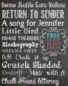 Erstelle ein eigenes Chalkboard mit kostenlosen Fonts