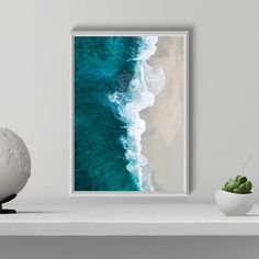 Teal Turquoise Gallery Wall Set Set of 6 Prints Wall Art Wall Art Sets, Wall Art Prints, Beach Wall Art, Printable Wall Art, Canvas Art, Gallery Wall, Illustration, Beach Print, Road Trip