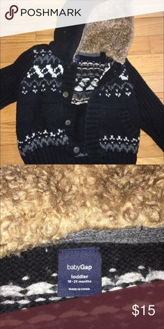 Baby Gap hooded sweater jacket Baby Gap hooded sweater jacket. GAP Jackets & Coats