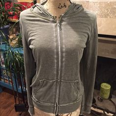 Maurice's distressed hoodie Purchased distressed. Light weighted material, size medium and true to size. Excellent shape, no issues Maurices Tops Sweatshirts & Hoodies