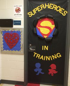Preschool Superhero Door