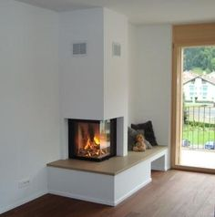 Most current Photographs Wood Stove scandinavian Style Whilst timber is regarded as the eco-friendly heat process, them certainly not looks like it's talked about ar. Floating Fireplace, Wood Fireplace Mantel, Modern Fireplace, Living Room With Fireplace, Fireplace Design, Scandinavian Living, Corner Designs, Room Decor, Architecture