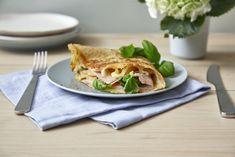 Grove pannekaker med ost og skinke - Baking for alle Frisk, Sandwiches, Baking, Bakken, Backen, Postres, Pastries, Roast