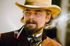 Calvin, the alternately charming but brutal owner of Candyland, was Leonardo DiCaprio's first time portraying a villain in a film. So of course he needed the one thing that would enhance his evil: an untrustworthy smile hidden beneath a thick beard.