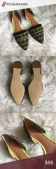 "NEW J. Crew D'orsay Print Fabric D'orsay Flats 7.5 New print fabric D'orsay flats from J. Crew. Perfect alternative to sandals that can be worn to the office and in your ""real"" life! A few slight marks on the soles from being tried on. J. Crew Shoes Flats & Loafers"