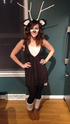 My DIY deer halloween costume #deer #halloween #costume #makeup #deermakeup