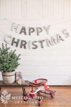 upholstered christmas banner tutorial | miss mustard seed