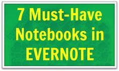 These 7 must-have notebooks in Evernote are the building blocks you need to organize all of your important information. Cool Gifts For Him, Evernote Template, Computer Programming, Computer Tips, Computer Help, Iphone Hacks, Read Later, Getting Things Done, Social Networks